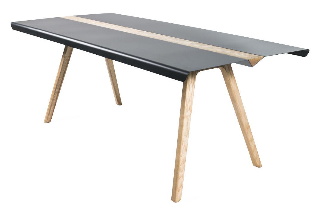 table gull 190 x 88 cm m tal bois noir fr ne bibelo. Black Bedroom Furniture Sets. Home Design Ideas