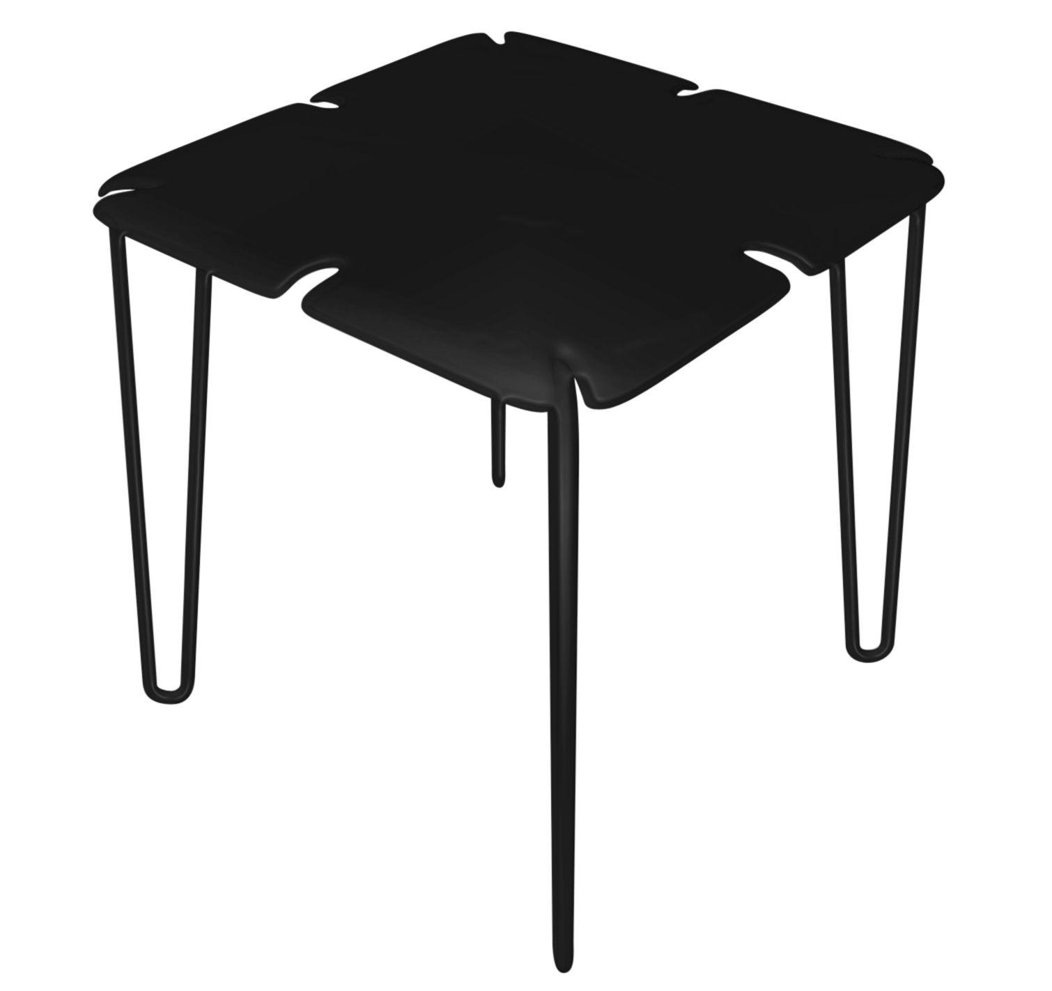Table chips 78 x 78 cm noir hpl myyour for Alessi porte listino prezzi