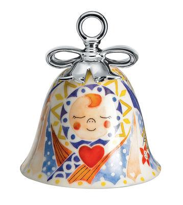 Boule de Noël Holy Family / Cloche Jésus - Porcelaine peinte main - Alessi multicolore en céramique
