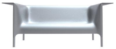Sofà Out-In - Versione laccata di Driade - Argento laccato - Metallo