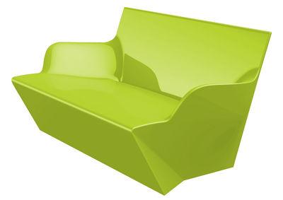 Image of Sofà Kami Yon - versione laccata di Slide - Laccato verde - Materiale plastico