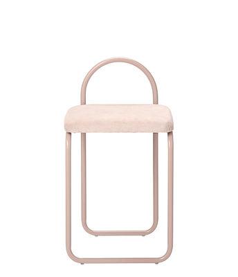 Mobilier - Chaises, fauteuils de salle à manger - Chaise rembourrée Angui / Velours - AYTM - Rose / Structure rose - Fer laqué, Mousse, Velours de coton