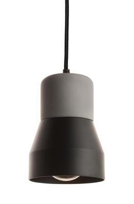 Luminaire - Suspensions - Suspension Steel Wood S / Béton & métal mat - Ø 13 cm - Spécimen Editions - Béton gris /  Noir mat - Béton, Métal peint