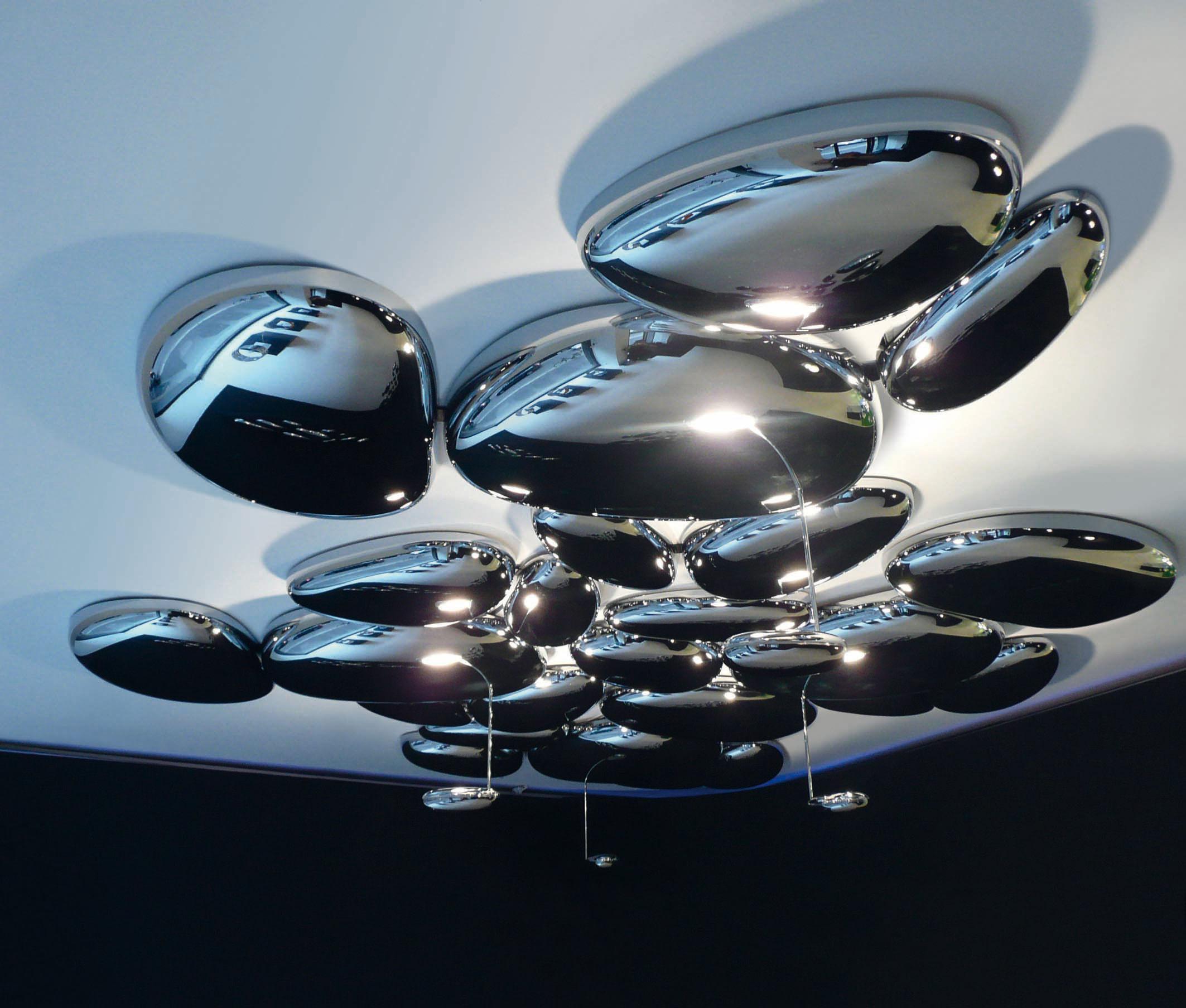 Scopri Plafoniera Skydro  modulo elettrificato, Cromato lucido di Artemide, Made In Design Italia -> Lampadario Artemide Mercurio