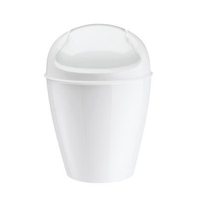Poubelle de table Del XXS H 18,7 cm 0,9 Litres Koziol blanc en matière plastique
