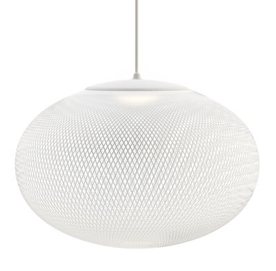 Luminaire - Suspensions - Suspension NR2 Medium LED / Fibre de verre - Ø 55 cm - Moooi - Blanc - Fibre de verre, Plastique