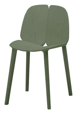 Chaise Osso / Frêne teinté - Mattiazzi vert en bois