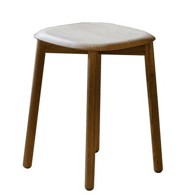 Mobilier - Tabourets bas - Tabouret Soft Edge 72 / H 47 cm - Legno - Hay - Chêne - Chêne massif verni, Contreplaqué de chêne verni