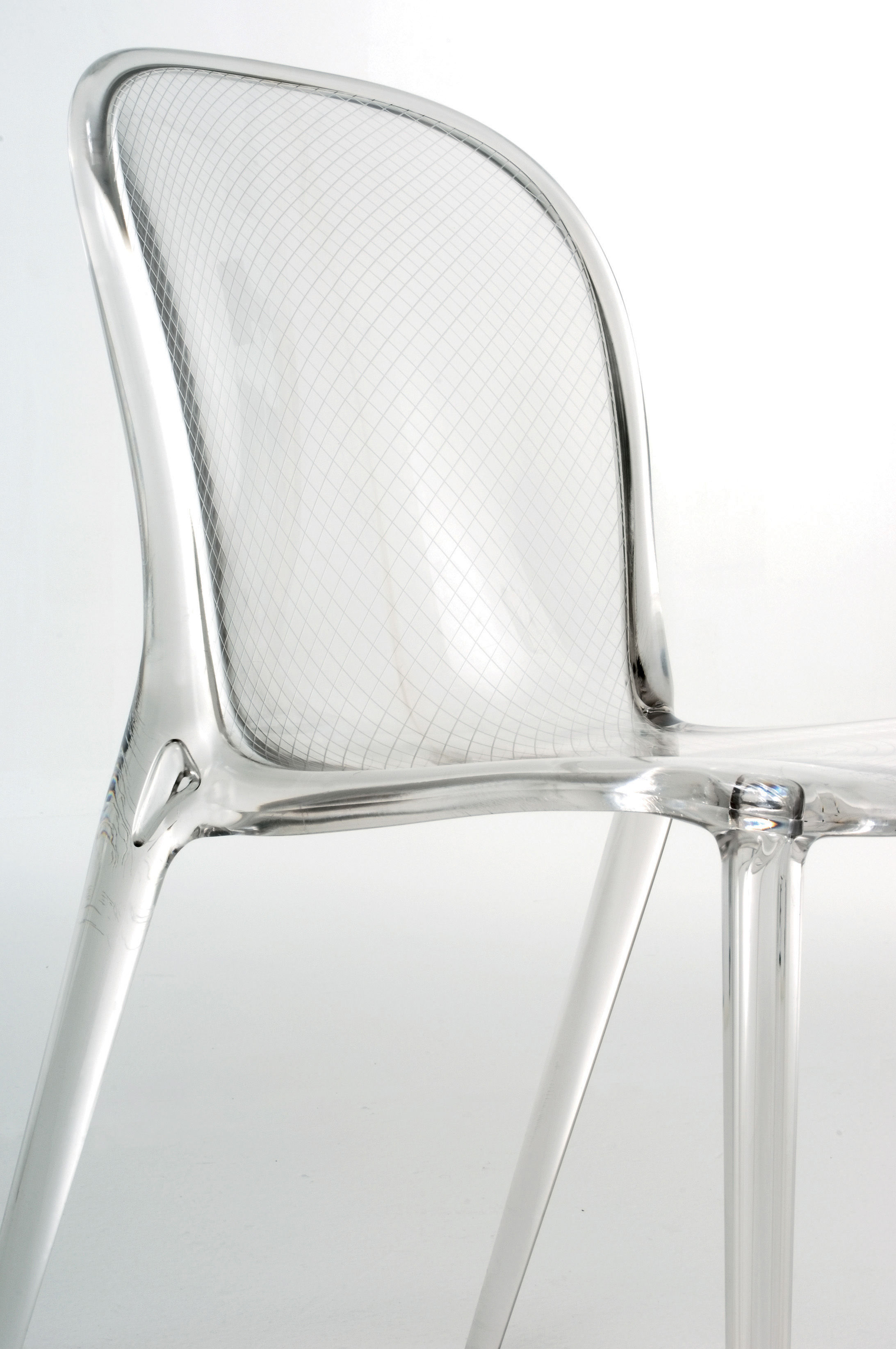 Thalya Stacking chair Polycarbonate Purple by Kartell