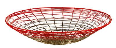 Déco - Corbeilles, centres de table, vide-poches - Corbeille Gradient Web - Pols Potten - Cuivre / Rose fluo - Fil de fer