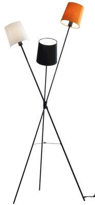 Luminaire - Lampadaires - Lampadaire Dexter - Frandsen - Noir, blanc, orange - Coton, Métal peint