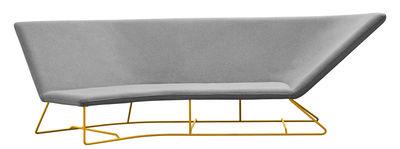Ultrasofa Sofa / outdoorgeeignet - 3-Sitzer, L 300 cm - Fermob - Perlgrau,Honig