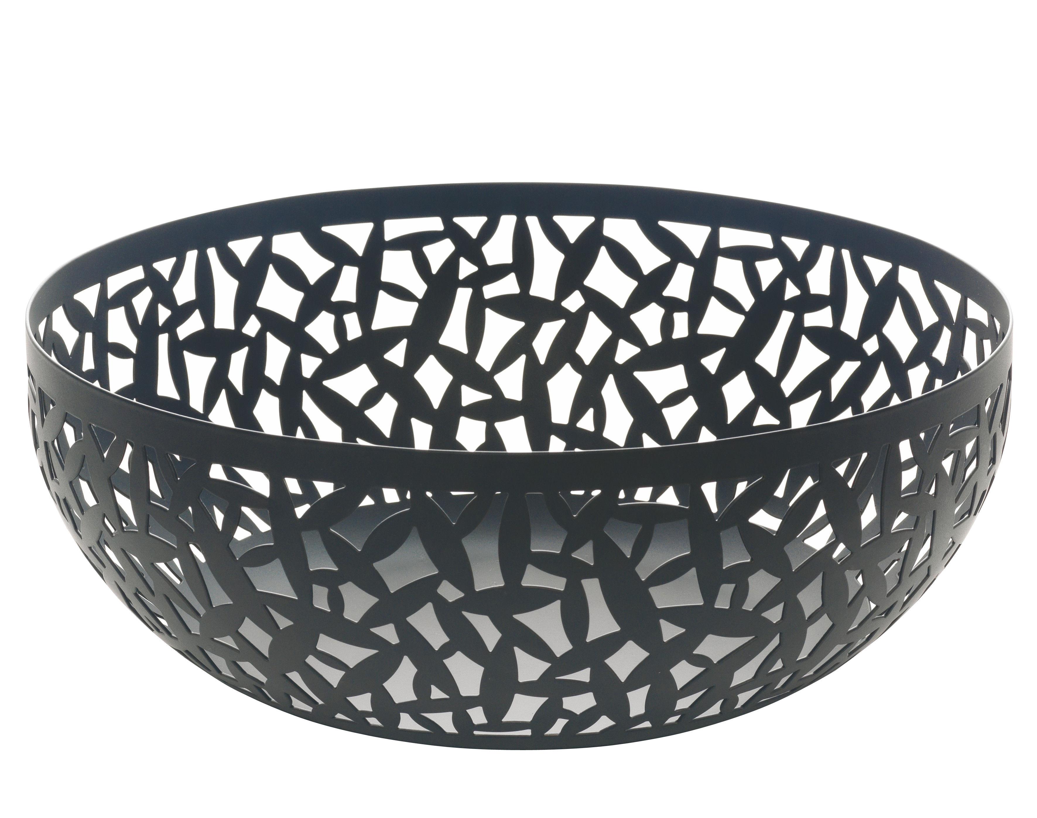 corbeille cactus 29 cm noir alessi. Black Bedroom Furniture Sets. Home Design Ideas