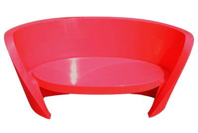 Sofà Rap - versione laccata di Slide - Rosso laccato - Materiale plastico