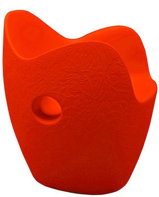 Poltrona O-Nest di Moroso - Rosso aranciato - Materiale plastico
