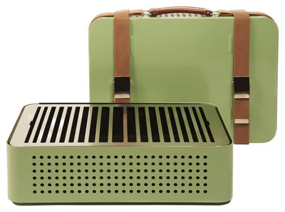 Image of Barbecue portatile a carbone Mon Oncle - / Portatile - 44 x 32 cm di RS BARCELONA - Verde - Metallo