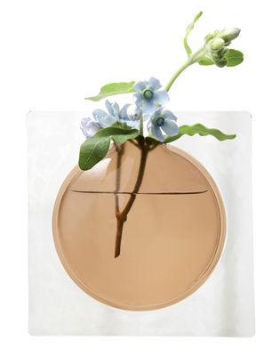 Vase Kaki / Adhésif - H 12,3 cm - Pa Design brun en matière plastique