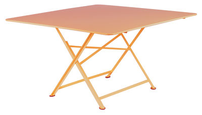 cargo foldable table 128 x 128 cm paprika by fermob. Black Bedroom Furniture Sets. Home Design Ideas