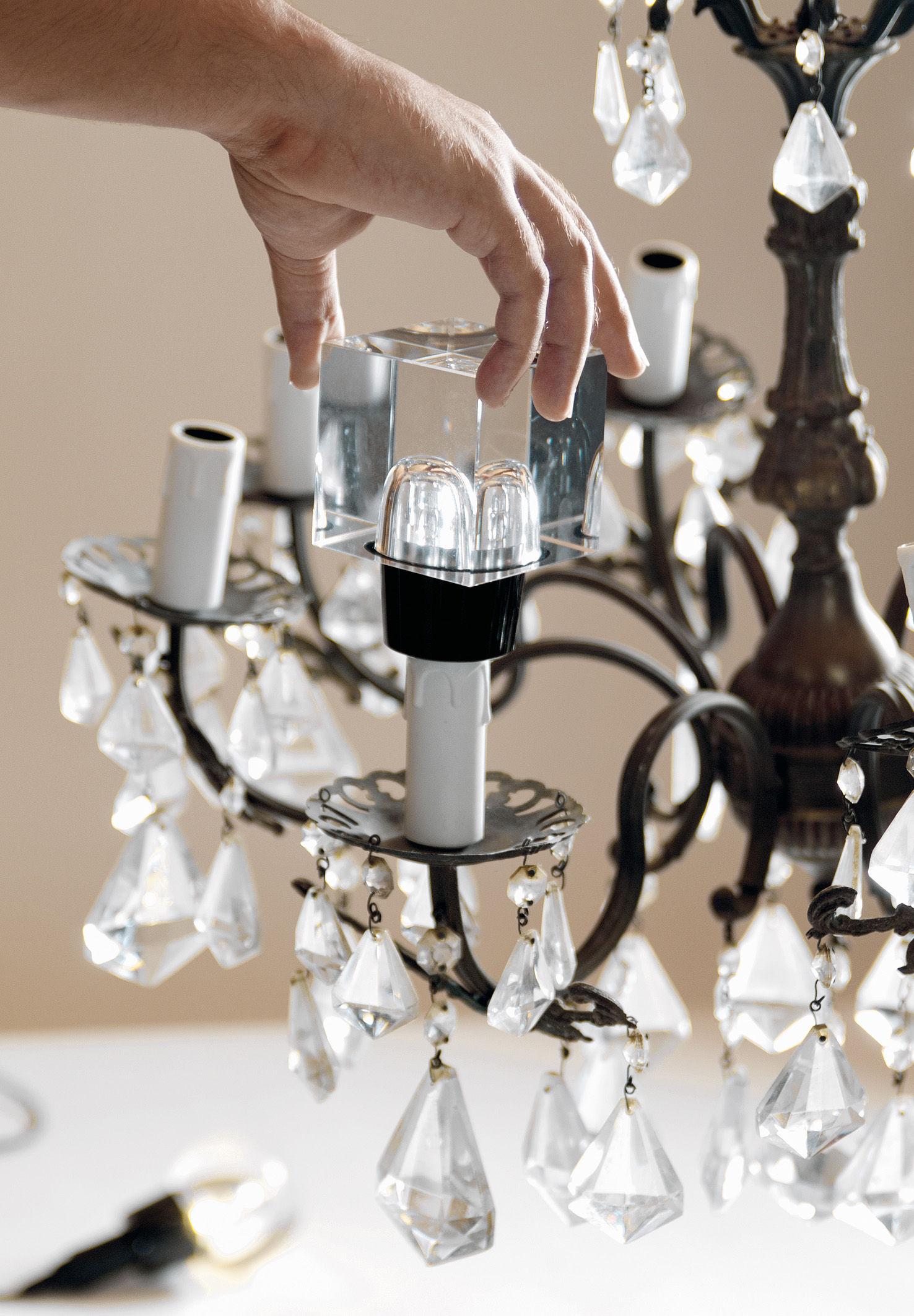crystaled deko leuchtmittel quadratisch seletti ampoule led. Black Bedroom Furniture Sets. Home Design Ideas