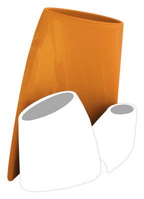 Foto Vaso per fiori Tao L - A 90 cm - Versione laccata di MyYour - Arancione laccato - Vetro
