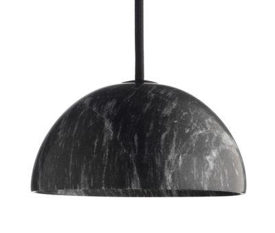 Suspension Marbre / Ø 13,5 x H 6,5 cm - wrong.london Noir en Pierre