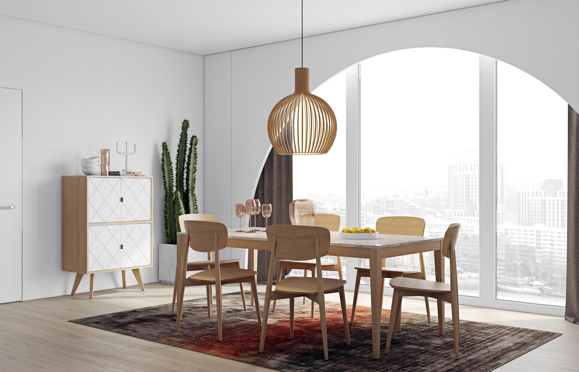 buffet butterfly haut l 80 x h 125 cm ch ne blanc pop up home made in design. Black Bedroom Furniture Sets. Home Design Ideas