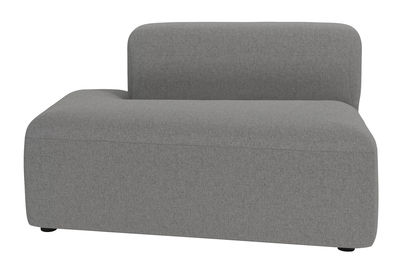 Canapé modulable Angle / Module méridienne gauche - Bolia gris clair en tissu