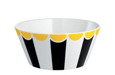 Bol Circus / Ø 16 x H 7 cm - Porcelaine anglaise - Alessi blanc,jaune,noir en céramique