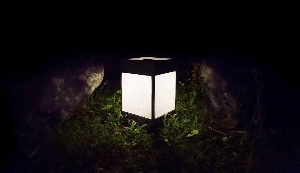 lampe solaire la lampe pose 03 led sans fil charbon. Black Bedroom Furniture Sets. Home Design Ideas