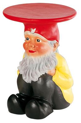 Foto Tavolino d'appoggio Gnomes di Kartell - Giallo,Rosso,Nero - Materiale plastico