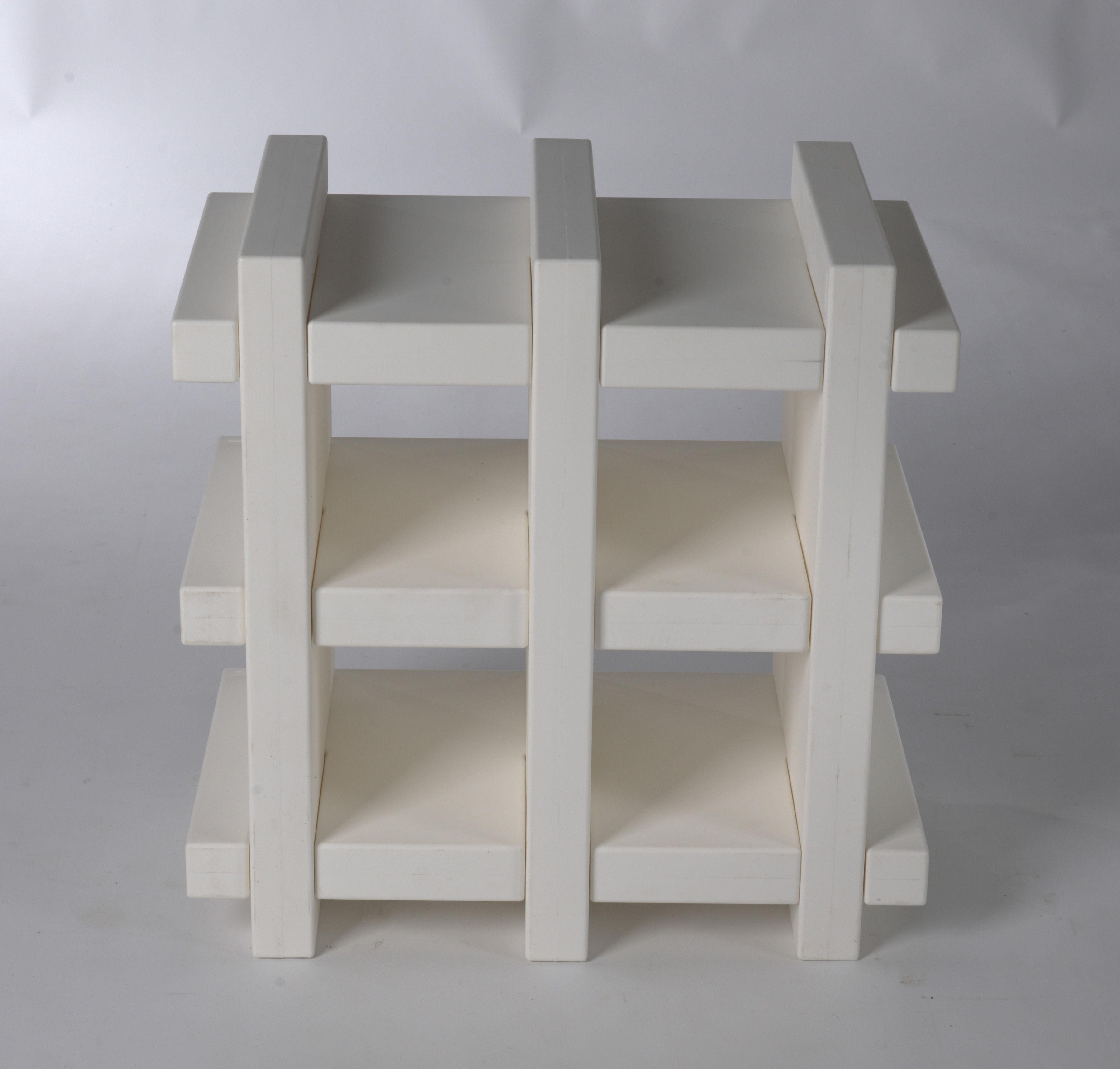 etag re booky mini h 70 cm larg 70 cm blanc slide made in design. Black Bedroom Furniture Sets. Home Design Ideas