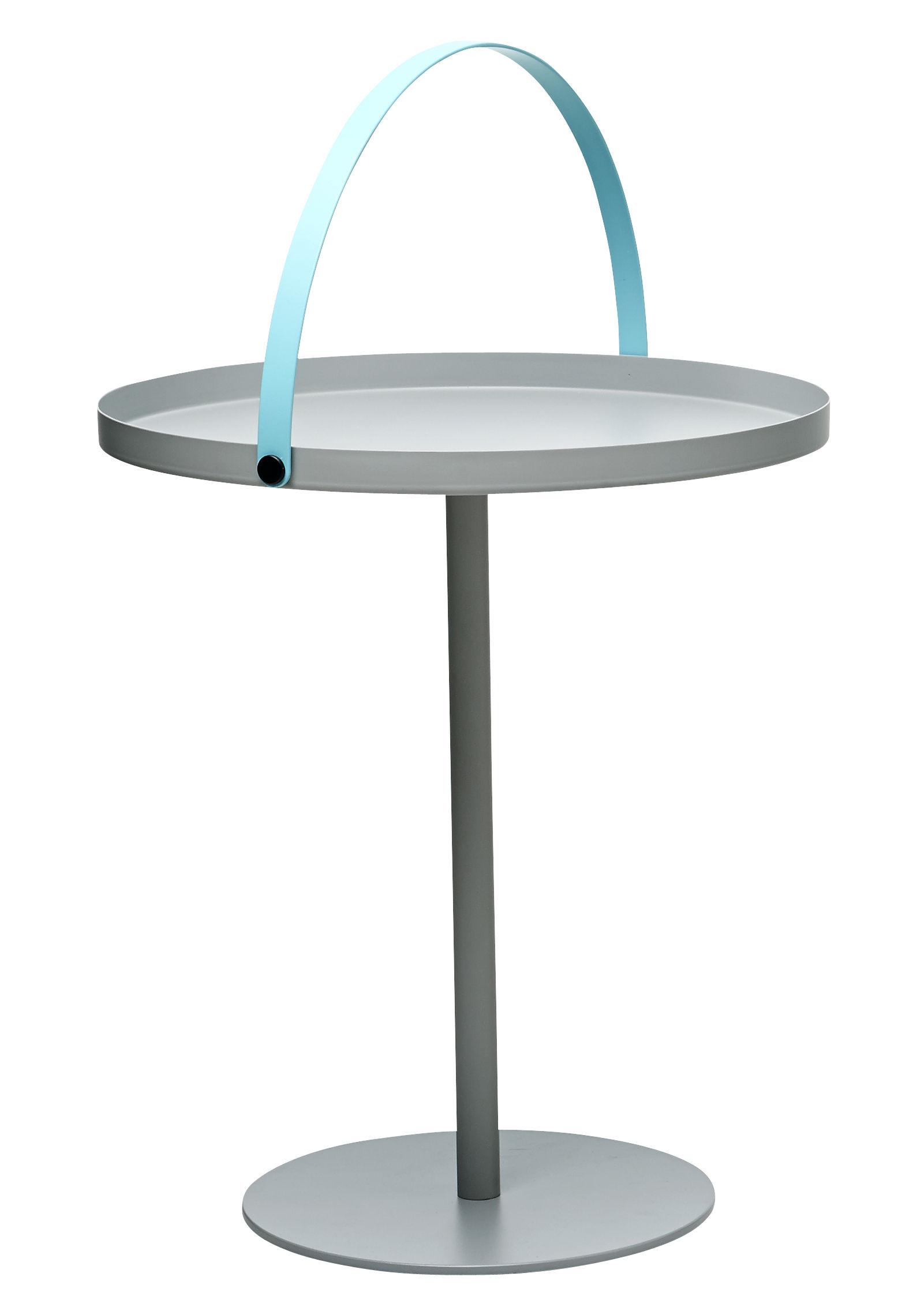table basse to go poign e int gr e h 48 cm gris poign e turquoise design letters. Black Bedroom Furniture Sets. Home Design Ideas