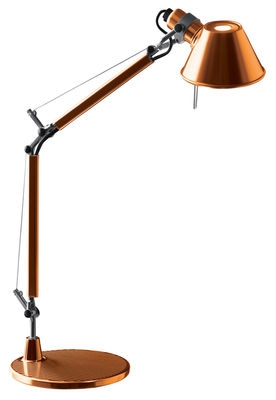 Lighting - Table Lamps - Tolomeo Micro Table lamp by Artemide - Orange - Painted aluminium
