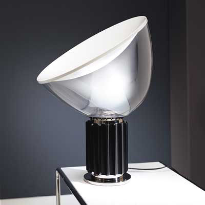 Taccia table lamp led black body by flos made in design uk lighting table lamps taccia table lamp led by flos black body aloadofball Images