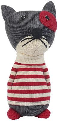 Déco - Pour les enfants - Peluche Hannah en crochet - Anne-Claire Petit - Gris / Rouge - Coton organique
