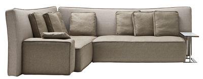Divano angolare Wow Sofa / 289 x 230 cm - Driade - Beige - Tessuto