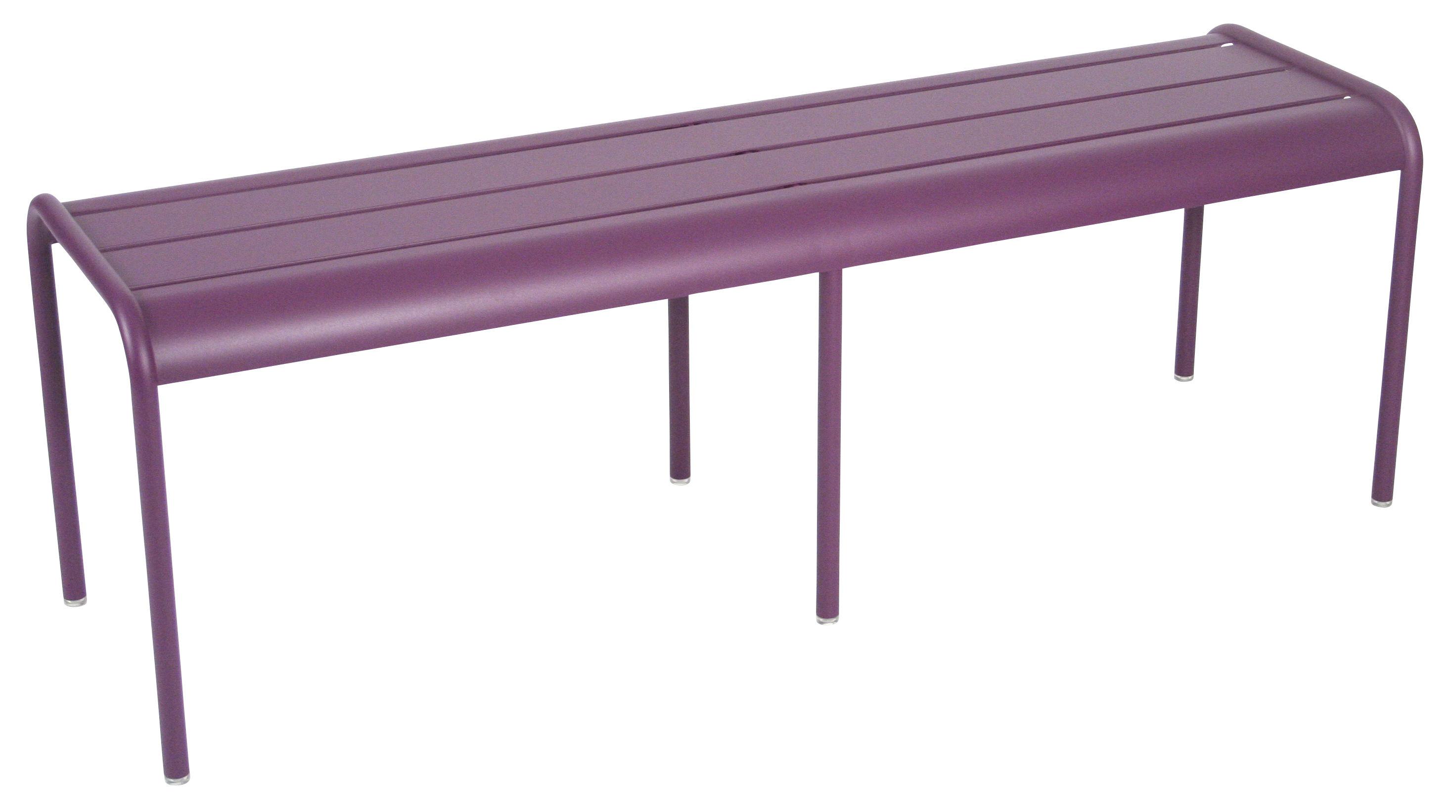 banc luxembourg 3 4 places l 145 cm aluminium aubergine fermob. Black Bedroom Furniture Sets. Home Design Ideas