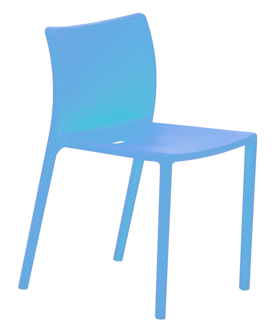 Air Chair Stackable Chair Polypropylene Sky Blue By Magis