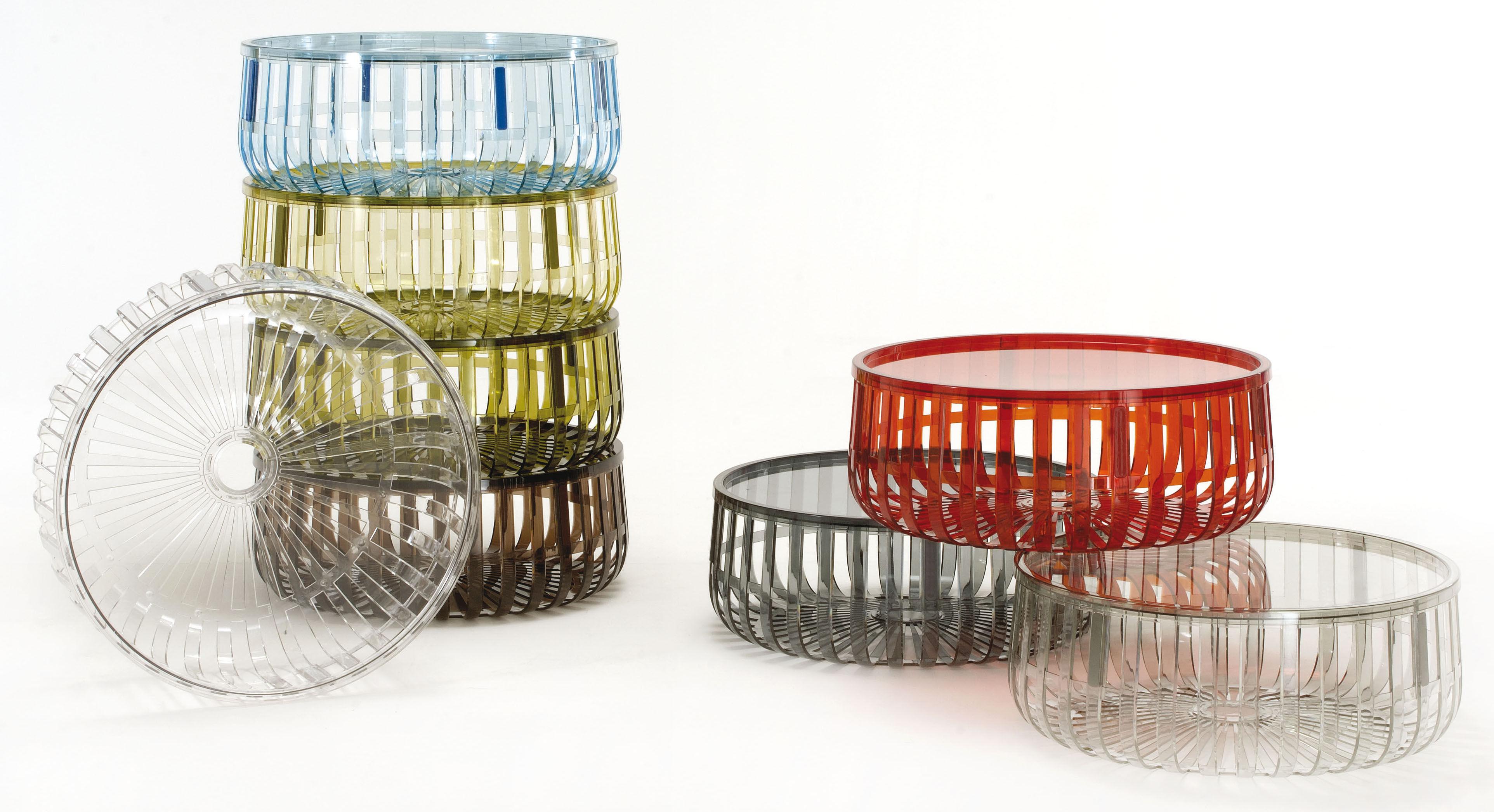 table basse panier coffre cristal kartell. Black Bedroom Furniture Sets. Home Design Ideas
