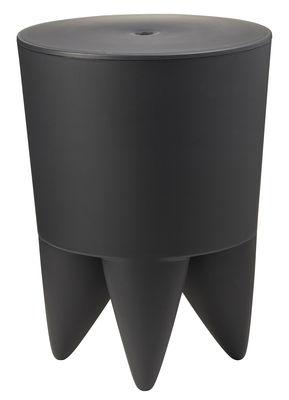 Mobilier - Tabourets bas - Tabouret New Bubu 1er / Coffre - Plastique - XO - Anthracite - Polypropylène