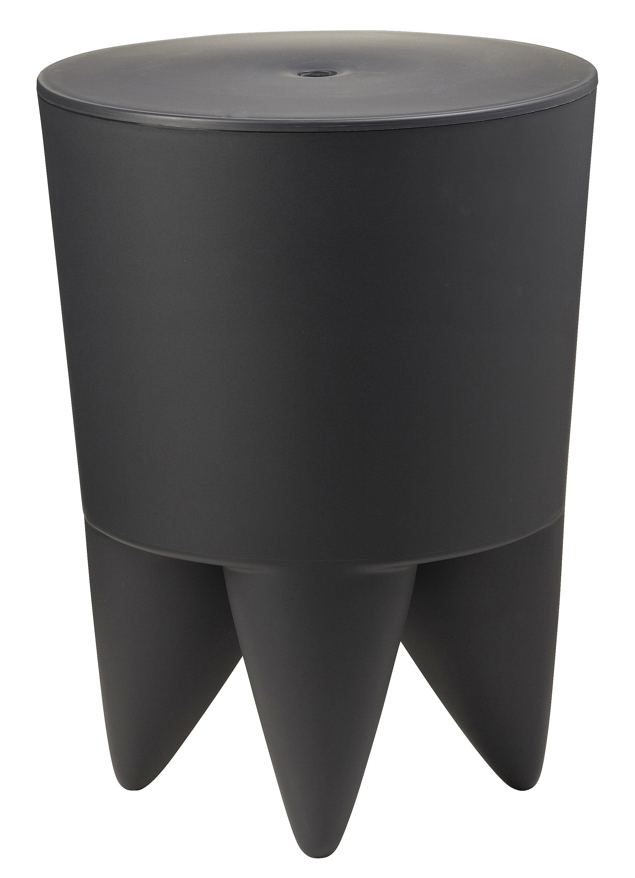 tabouret new bubu 1er coffre plastique anthracite xo. Black Bedroom Furniture Sets. Home Design Ideas