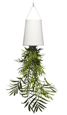 Déco - Pots et plantes - Jardinière suspendue Sky Large / Céramique - H 22 cm - Boskke - H 22 cm / Blanc - Céramique