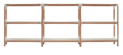 Furniture - Shelves & bookcases - Steelwood Shelf - H 93 cm by Magis - White / beech - L 181 cm - Beechwood, Varnished MDF, Varnished steel