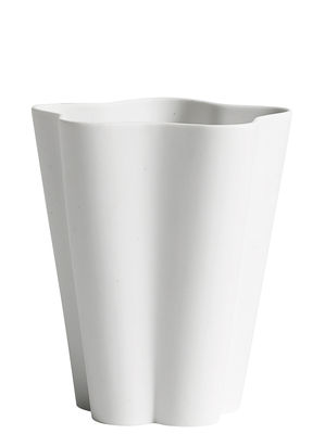 Vase Iris Small Ø 11 x H 13 cm Fait main Hay blanc en céramique