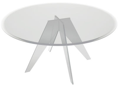Table Alister / Ø 155 cm - Glas Italia transparent en verre