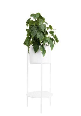 Pot de fleurs Ent Medium H 78 cm Métal XL Boom blanc en métal