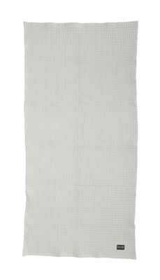 Serviette Organic / 100 x 50 cm - Ferm Living gris clair en tissu