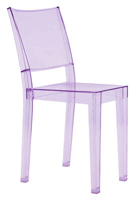 Furniture - Chairs - La Marie Stacking chair - Polycarbonate by Kartell - Light purple - Polycarbonate