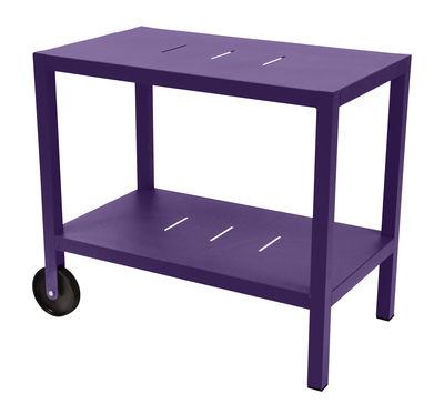 Carrello - tavolo d'appoggio Quiberon / Supporto per plancha - Fermob - Melanzana - Metallo