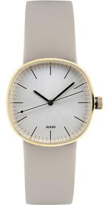 Montre Tic15 Bracelet cuir Alessi Watches or,argent,beige en métal